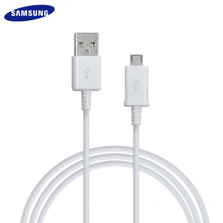 Galaxy Grand Câble 1.5 mètre Data USB à Micro USB Origine Samsung Blanc