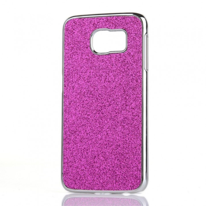 Coque Galaxy S6 rose paillettes