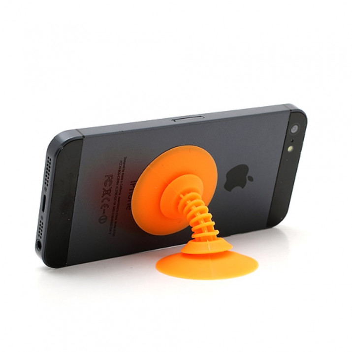 Support de bureau pour smartphone Funny ventouse Orange