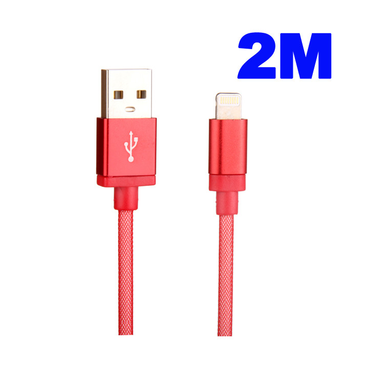 Cable Rouge 2M Data et Charge USB-Dock pour iPhone 6s