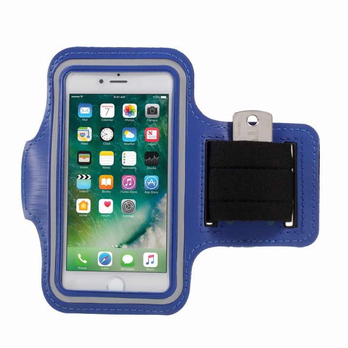 Brassard iPhone 8 sport Bleu Néoprène ultra confortable