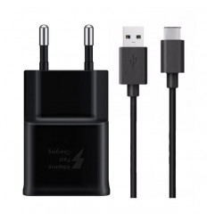 Chargeur Samsung Galaxy NOTE 9 AFC 2A NOIR + cable 1.5m TYPE C