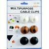 Support de câble CLIPS COLOR 2 (Lot de 3 paires)
